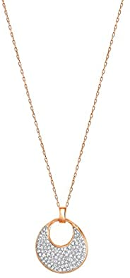 施华洛世奇自由玫瑰金镀金项链 带透明水晶 5237170