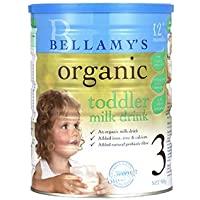 澳洲 Bellamy's 贝拉米 有机婴幼儿牛奶粉3段(适合12-36个月宝宝食用) 900g(澳大利亚品牌 保税区发货…