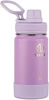 Takeya 51129 Actives 儿童保温水瓶,14 盎司 淡紫色 14 盎司