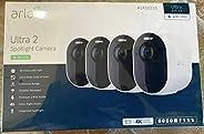 Arlo Ultra 2 聚光灯相机无线*系统 4 件装,全*
