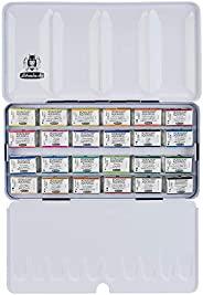 Schmincke Horadam Aquarell 全盘漆金属套装,24 种颜色套装 (74324097)