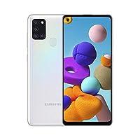Samsung 三星 Galaxy A21S (64GB, 4GB) 6.5 英寸,四摄像头,全天电池,双卡 GSM 解锁全球 4G LTE VoLTE (T-Mobile, AT&T, Metro, Straight Talk) 国际型号 A217M/DS (64GB SD 捆绑, 白色)