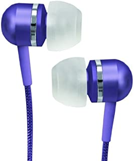 Coby CVEM79PUR Jammerz Platinum High-Performance Isolation Stereo Earphones, Purple (Discontinued by Manufacturer)