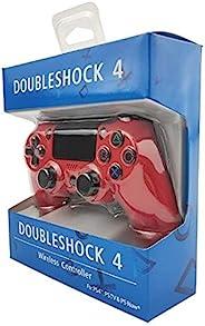 适用于 Sony 索尼 PS4 控制器蓝牙振动游戏手柄,适用于 Playstation 4 底特律无线操纵杆,适用于 PS4 游戏机(红色)