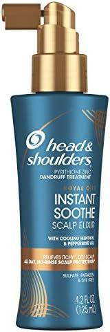 Head & Shoulders 毛发表皮护理油,去头屑,带有清凉薄荷醇和薄荷油的皇家精油系列,4.2盎司/1
