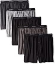 Hanes 恒适 男式 5 件装终极染色外露腰带针织平角内裤,带 ComfortFlex 腰带 - 各种颜色 混色 X-Large