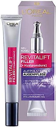 L'Oréal Paris 巴黎欧莱雅 复颜导入系列 玻尿酸保湿冻龄眼霜, 创新双球涂抹器,