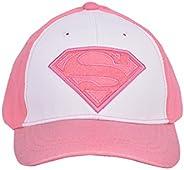 幼儿女孩女超人棒球帽 - 粉色