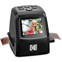 KODAK 迷你数字胶片和幻灯片扫描仪 – 可转换35毫米、126、110、*8毫米和8毫米胶片负片和滑动至22百万像素 JPEG 图像 – 包括 – 2.4 LCD 屏幕 – 轻松加载膜适配器