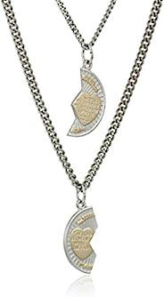 纯银 mizpah 金属项链带不锈钢链,50.8cm 和 60.96cm