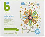 Babyganics Face, Hand & Baby Wipes, Fragrance Free 100 count (Pack of 4)