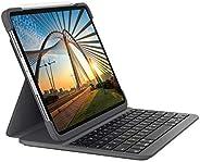 Logitech 罗技 SLIM FOLIO PRO 背光蓝牙键盘保护套,适用于 iPad Pro 11 英寸(* 1 代和* 2 代)石墨色