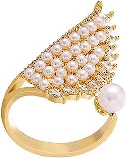 可调节尺寸珍珠戒指翼形