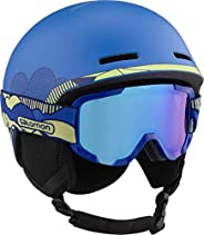 Salomon 萨洛蒙 儿童滑雪和滑雪板头盔,带滑雪护目镜(2号),适合戴眼镜的人