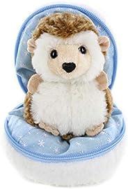 Plushland 雪球填充拉链动物 – 刺猬 – 可爱毛绒动物分类 – 适合女朋友、家人和朋友的*佳柔软玩具