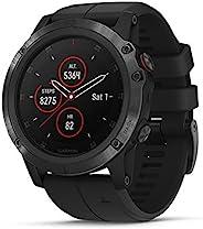 Garmin Fenix 5 Plus, Premium Multisport GPS Smartwatch, Features Color TOPO Maps, Heart Rate Monitoring, Music