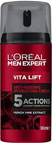 L'Oréal 欧莱雅 Men Expert 面部护理 抗皱 男士*面霜,即时抗皱效果,Vita Lift 保湿护理,1 x 1