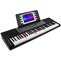 AKLOT 键盘钢琴标准 61 键带 MIDI USB AUX 端口,适合初学者