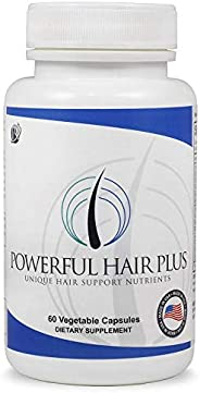 PRN Pure Results Nutrition 强大秀发维生素,生物素,适用于秀发,皮肤和甲部,解决了可能影响掉发,稀疏,男女缺乏再生的维生素缺乏问题,30天供应量