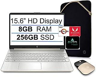 2021 年*新 HP 15 15.6 英寸高清显示屏笔记本电脑,AMD Athlon Silver 3050U(高达 3.2GHz,Beat i3-8130U),8GB RAM,256GB SSD,WiFi,蓝牙,HDMI,网络摄像头,Win...
