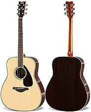 YAMAHA 雅马哈 FG830 单板民谣木吉他 41英寸 原木色 送加厚琴包等玩琴大礼包 (亚马逊自营商品, 由供应商配送)