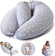 Bamibi 多功能孕妇枕和哺乳枕 + 内垫。 枕套 * 棉,填充 * 涤纶,婴儿嵌套,护理枕,孕妇枕