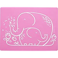 modern-twist Baby Meal-Mat Silicone Placemat, Elephant Hugs…