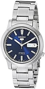 Seiko 5 男士 SNK793 全自动蓝色表盘不锈钢手表