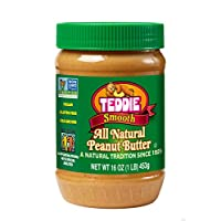 Teddie Natural Peanut Butter, Smooth, 16-Ounce Jar (Pack of 4)