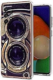 老式相机适用于三星 A32 5G 保护套男女男孩,酷炫复古 70 年代 80 年代 90 年代老式复古相机保护套适用于三星 A32 5G ,有趣的复古外观柔软超薄硅胶外壳