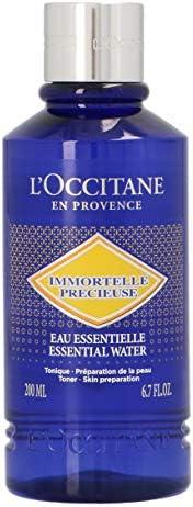L'OCCITANE 不含酒精 Immortelle 珍贵精华水与玻尿酸,适用于所有肤质,6.7液盎
