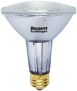 Bulbrite H60PAR30WF/L/ECO 60 瓦 ECO 卤素灯 PAR30 长颈,相当于 75W 卤素灯,M 码 (E26) 灯座,120V,泛洪