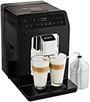 Krups 克鲁伯 Evidenc 全自动咖啡机 EA8918e,OLED显示屏,Barista Quattro Force 技术,12种咖啡制备,3种茶制备,一键式卡布奇诺制备,2杯功能,黑色