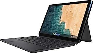 Lenovo 联想 Chromebook Duet 2 合 1 10.1 英寸全高清触摸屏 IPS 平板电脑,MediaTek Helio P60T 处理器,4GB 内存,128GB SSD,网络摄像头,WiFi,蓝牙,镀铬操作系统,键盘,32...