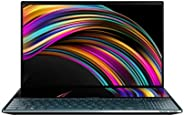 ASUS 华硕 ZenBook Pro Duo UX581 笔记本电脑,15.6 英寸 4K UHD NanoEdge 触摸屏,Intel Core 英特尔酷睿 i7-10750H,16GB 内存,1TB PCIe SS