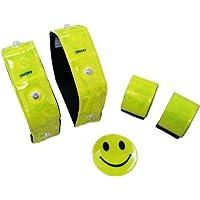 【德國品牌】Ultrasport LED反光腕帶 警示帶 騎行夜跑發光手臂帶 戶外運動 330900000040 熒光黃