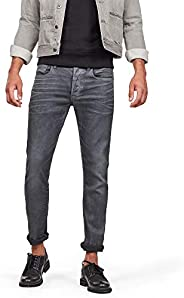G-STAR RAW 男式 3301 修身牛仔裤,32W x 32L,Grey (Dk Aged Cobler 3143)