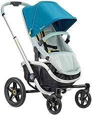Quinny VNC 婴儿车,适用于大约 6 个月至 3.5 岁(0 – 15 千克),时尚手推车,单手可折叠,特别灵活,灰色,灰色