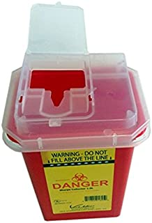 Sharps 容器 7.0 升,红色 - 黄色。