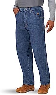 Wrangler Riggs 工作服男式 FR 防火木工牛仔裤 牛仔布色 38W x 30L