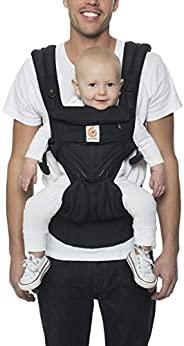 Ergobaby Omni 360全位置婴儿背带,带腰部支撑和凉爽透气网,适用于7-45磅(约3.18-20.41千克)的新生儿至蹒跚学步的宝宝,玛瑙黑