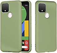 Futanwei 液態硅膠谷歌 Pixel 4A 5G 保護套(不適用于 4A 4G),[嬰兒皮膚觸感] [超細纖維襯里] [支持無線充電] 超薄時尚保護殼適用于 Google 谷歌 Pixel 4A 5G,薄荷綠