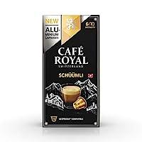 Café Royal Lungo Schüümli Nespresso Compatible Aluminium Coffee Pods, Strength 6/10, 0.051999 kg