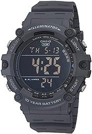 Casio 卡西欧 男式石英树脂表带,蓝色,27.63 休闲手表(型号:AE-1500WH-8BVCF)