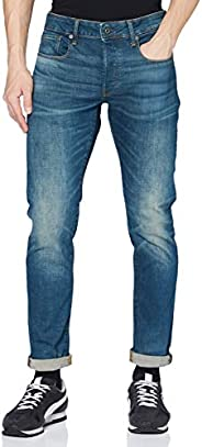 G-STAR RAW 男式3301修身牛仔裤 beln stretch DENIM Medium Aged 31W x 32L