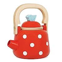 Le Toy Van - 蜂蜜烘焙木制多蒂水壶 - 早餐套装假装厨房玩具套装 | 儿童角色扮演玩具厨房配件