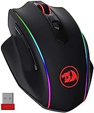 Redragon M686 VAMPIRE ELITE 无线游戏鼠标,16000 DPI 有线/无线游戏鼠标带专业传感器,45 小时耐用功率,可定制宏和 RGB 背光,适用于电脑 Mac / 笔记本电脑