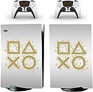 Adventure Games - Days of Play,白色,限量版 - 乙烯基控制台皮肤贴花贴纸 + 2 个控制器皮肤套装 - 兼容 PlayStation 5 数字版