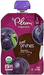 Plum Organics 1階 嬰兒食品 西梅泥 3.5盎司/99克 小袋裝(12袋)
