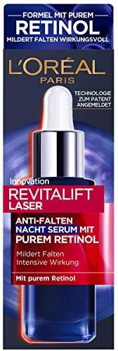 L'Oréal Paris 巴黎欧莱雅 Revitalift Laser 复颜光学系列 抗皱锁龄夜间精华 含纯视黄醇/玻尿酸,